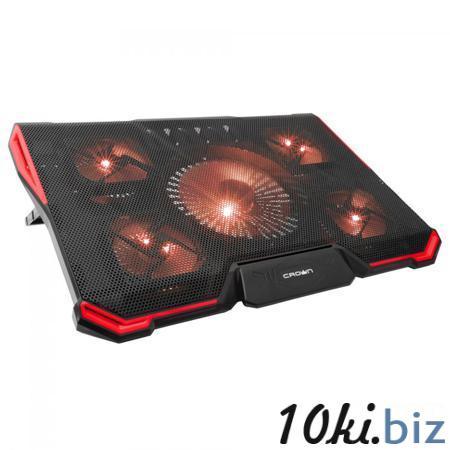 """Подставка охлажд. Crown CMLS-k330 RED для ноутбука до 19"""", 1 вен. 140 мм, 4 вен. 80 мм, Red LED подсветка, black Подставки для ноутбуков в Москве"""