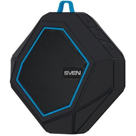 Портативная bluetooth-колонка Sven PS-77, черная / синяя