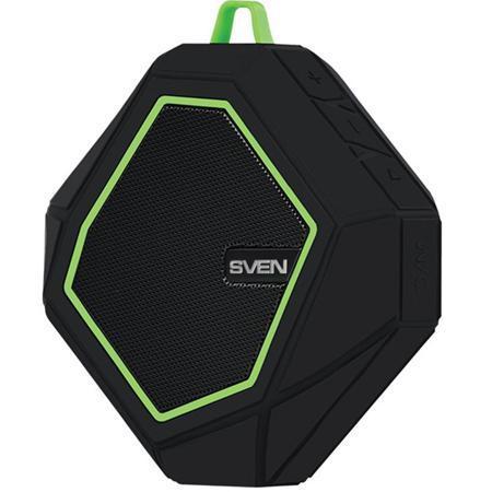 Портативная bluetooth-колонка Sven PS-77, черная / зеленая
