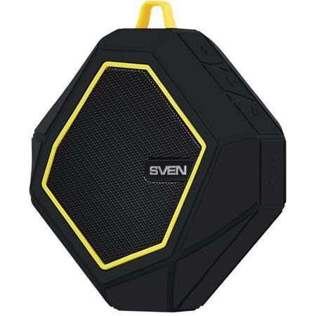 Портативная bluetooth-колонка Sven PS-77, черная / желтая