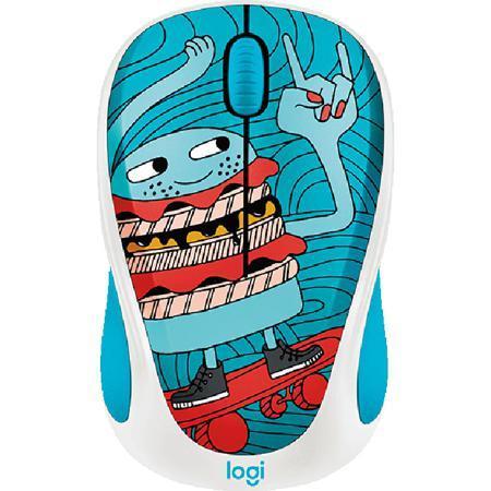 Мышь Logitech M238 Doodle Collection SkateBurger