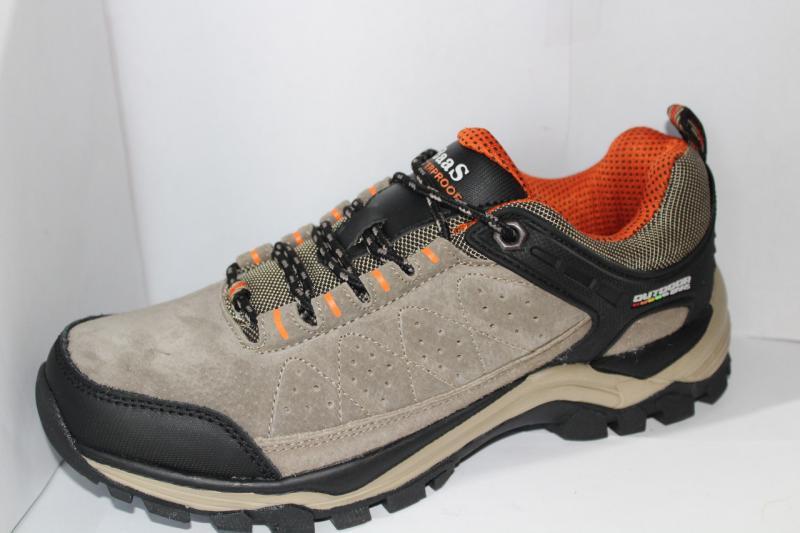Мужские осенние кроссовки замшевые baas на шнуровке кожаные со вставками и рисунком на платформе на шнурке