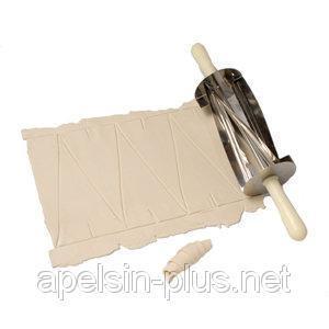 Фото Кондитерские инструменты и аксессуары, Ролики кондитерские Скалка - нож для круассанов профессиональный малый