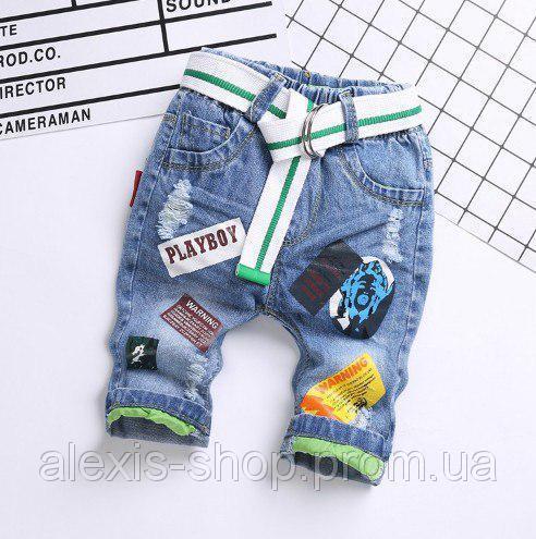 Бриджи для мальчиков джинсовые Playboy