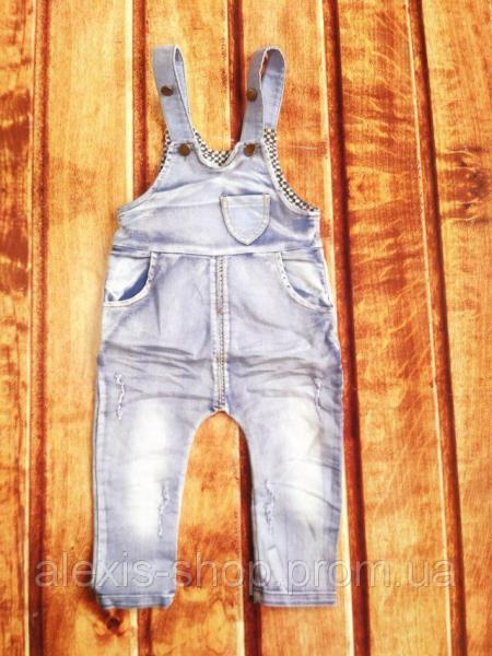 Комбинезон детский джинсовый синий 9098