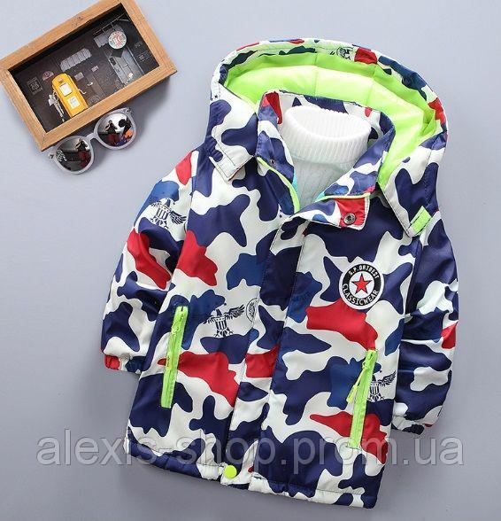 Куртка демисезонная детская на флисе eagle 9554
