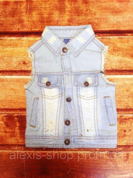Желетка детская джинсовая унисекс 8061
