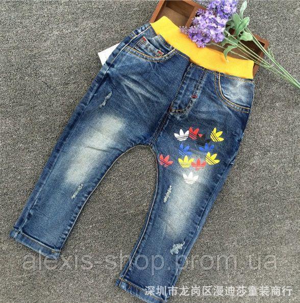 Джинсы для девочек синие Adidas 8050