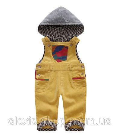 Комбинезон детский вельветовый желтый 9025