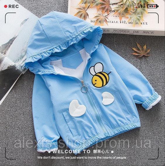 Ветровка для девочек bee голубая
