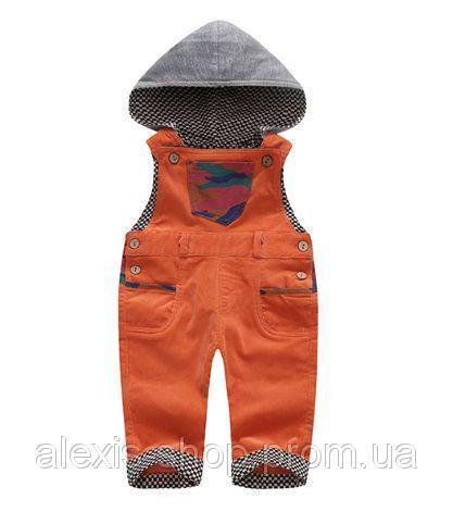 Комбинезон детский вельветовый оранжвый 9028