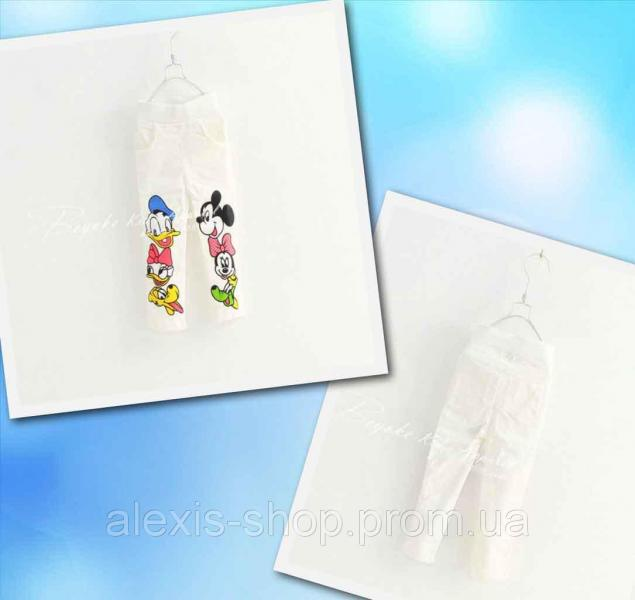 Джегинсы для девочек Donald and Mickey белые