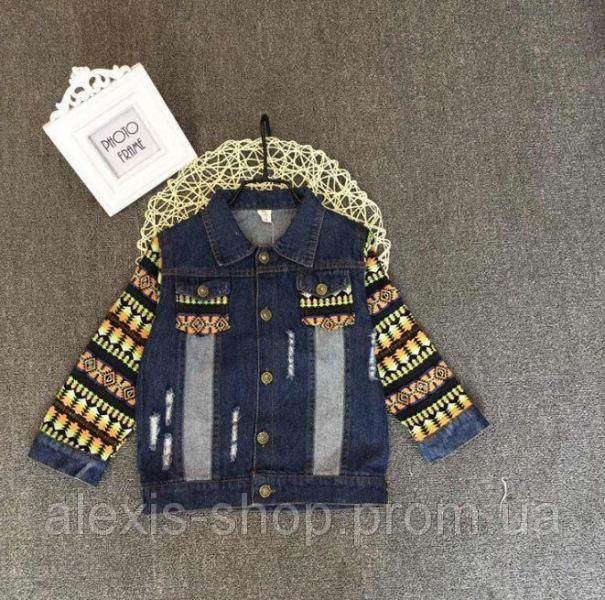 Курточка детская джинсовая 8046