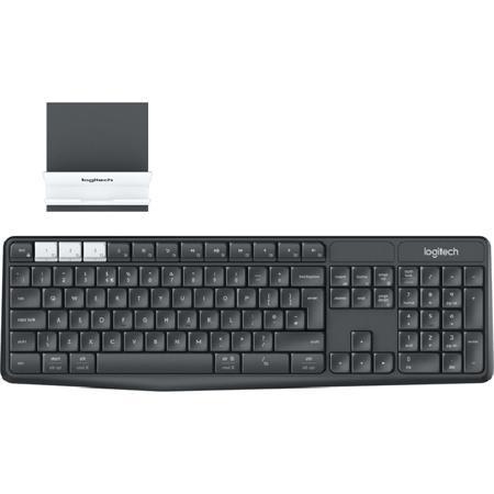 Клавиатура Logitech K375s Multi-Device Wireless Keyboard and Stand Combo USB 920-008184