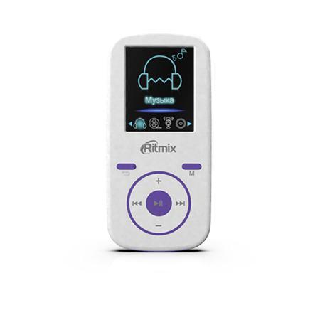 MP3-плеер Ritmix RF-4450 4Gb белый / фиолетовый