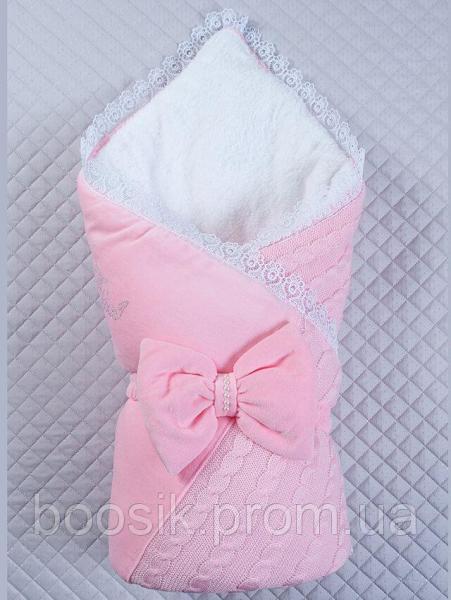 """Конверт-одеяло на выписку """"Дуэт"""" розовый"""