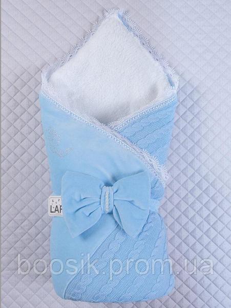 """Конверт-одеяло на выписку """"Дуэт"""" голубой"""
