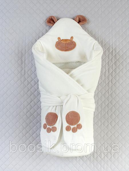 """Конверт-одеяло """"Панда"""" ТМ """"Lari"""" молочный"""