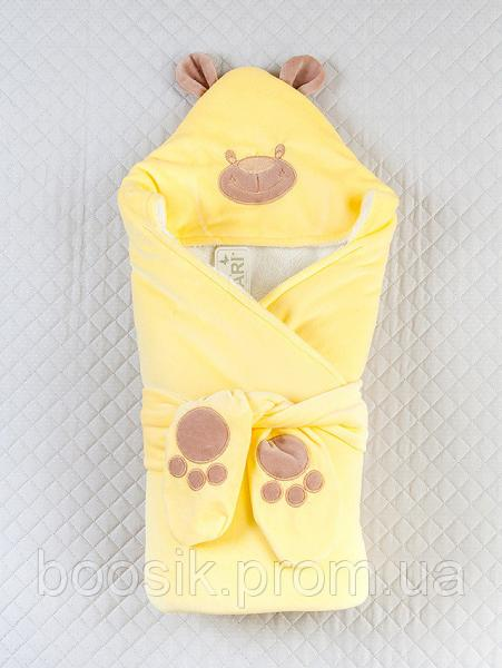 "Конверт-одеяло ""Панда"" ТМ ""Lari"" желтый"