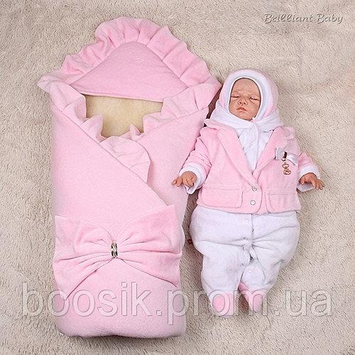 Зимний набор Мария+Little beauty (розовый) 3 предмета