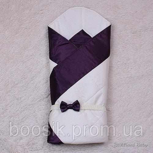 Зимний двухсторонний конверт Beauty (фиолетовый)