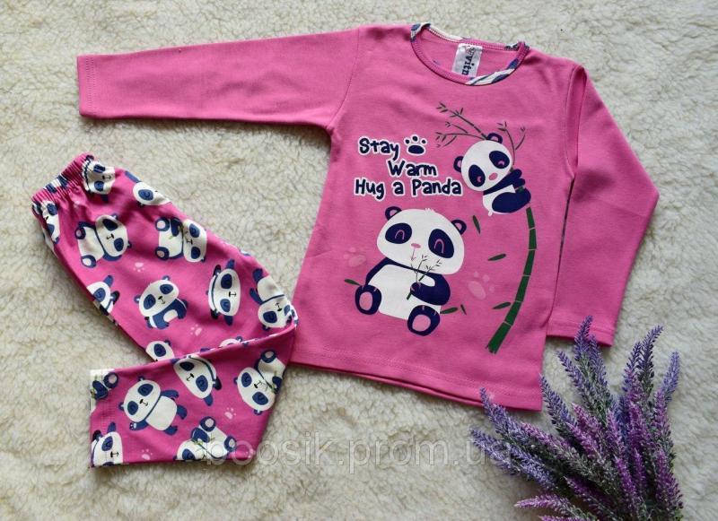 """Пижама """"Панда"""" розовая размер 104,110"""