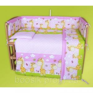 Детский постельный комплект с защитой