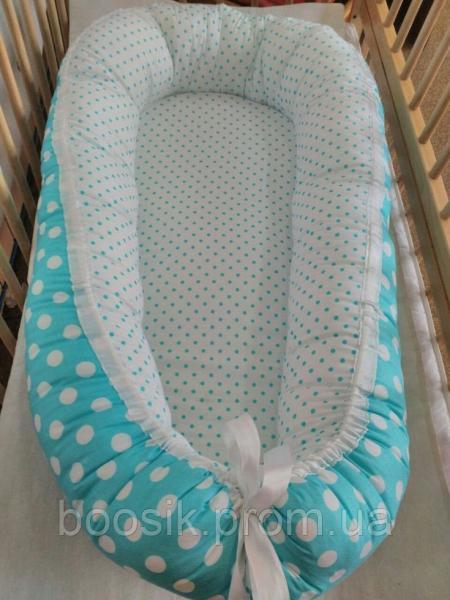 Колыбелька-кокон для новорожденных бирюзовый