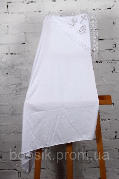 Крестильная пеленка с уголком белая ТМ Lari