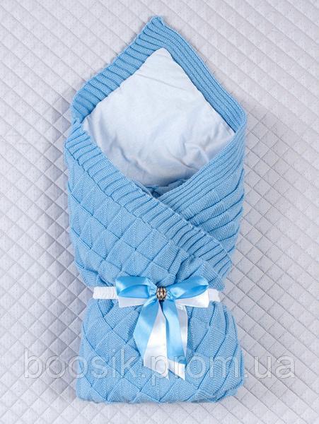 """Демисезонный конверт-одеяло """"Лапушка"""" голубой ТМ Lari"""