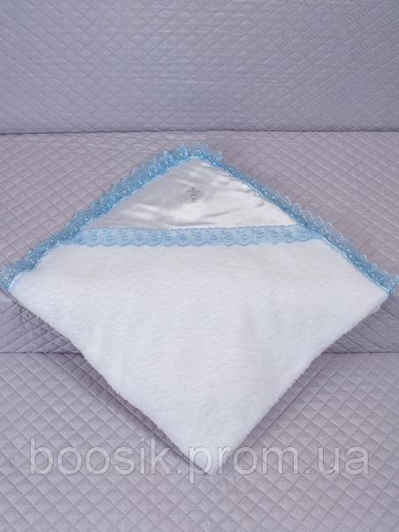 Крыжма махровая белая/голубая ТМ Lari