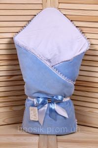 Демисезонный велюровый конверт-одеяло