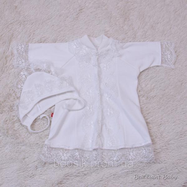 """Крестильная рубашка """"Анна"""" р.56,68"""