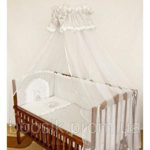 Детский постельный комплект 7 в 1 с вышивкой