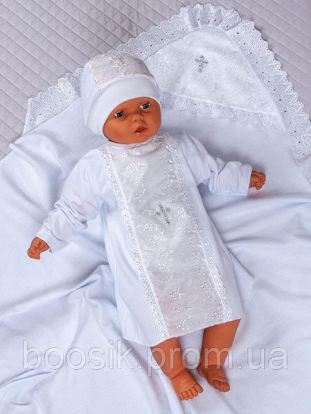 """Крестильный набор из 3-х предметов """"Ангел"""" белый"""