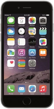 "Смартфон Apple iPhone 6 серый 4.7"" 32 Гб NFC LTE Wi-Fi GPS 3G MQ3D2RU/A"