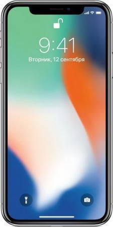 "Смартфон Apple iPhone X серебристый 5.8"" 64 Гб NFC LTE Wi-Fi GPS 3G MQAD2RU/A"