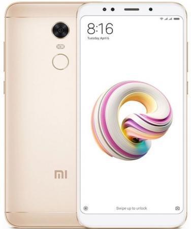 "Смартфон Xiaomi Redmi 5 Plus золотистый 5.99"" 64 Гб LTE Wi-Fi GPS 3G"