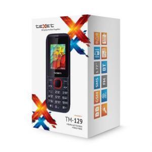 """Фото  Телефон Texet TM-129 красный черный 1.77"""" 32 Мб"""