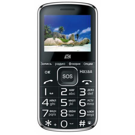 "Мобильный телефон ARK Power F1 32Mb черный моноблок 2Sim 2.4"" 240x320 0.3Mpix BT GSM900/1800 MP3 FM microSD max8Gb"