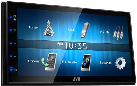 Автомагнитола JVC KW-M24BT USB MP3 FM RDS 2DIN 4x50Вт черный