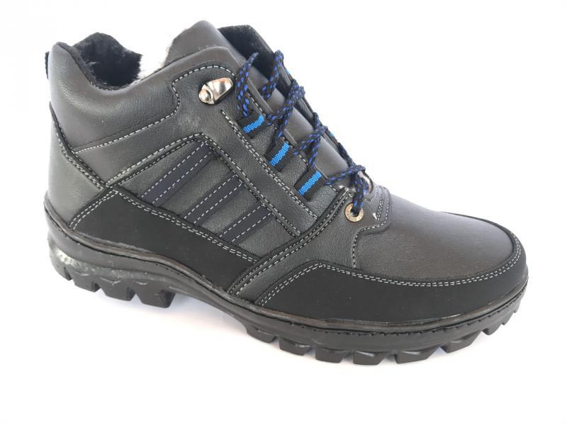 Ботинки спортивный на шнурках мужские черный Comfort  Т-21