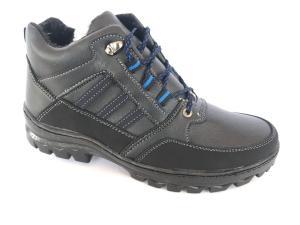 Фото Ботинки зимние для мужчин Ботинки спортивный на шнурках мужские черный Comfort  Т-21