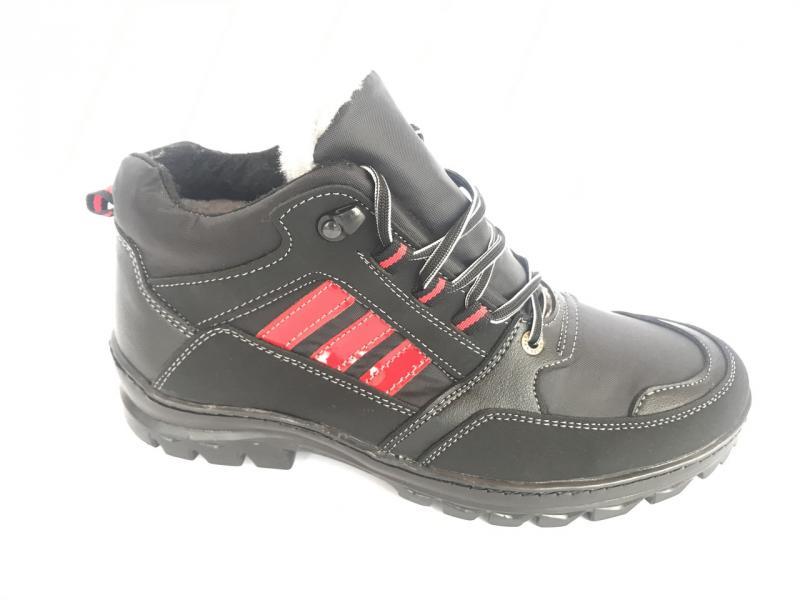 Ботинки спортивный на шнурках мужские черный Comfort  Б-21