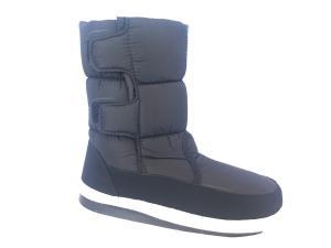 Фото Обувь зимняя женская, сапоги, ботинки Сапоги дутики женские аляска K&G 09 черные (липучка)