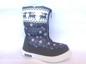 Фото Зимняя детская и подростковая обувь ЗИМНИЕ ДУТИКИ, САПОГИ ДЛЯ ДЕВОЧЕК Д-2 СЕРАЯ(снежинка)