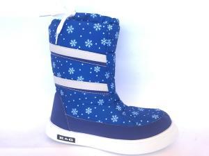 Фото Зимняя детская и подростковая обувь Зимние дутики, сапоги для девочек Д-3 василек(снежинка)