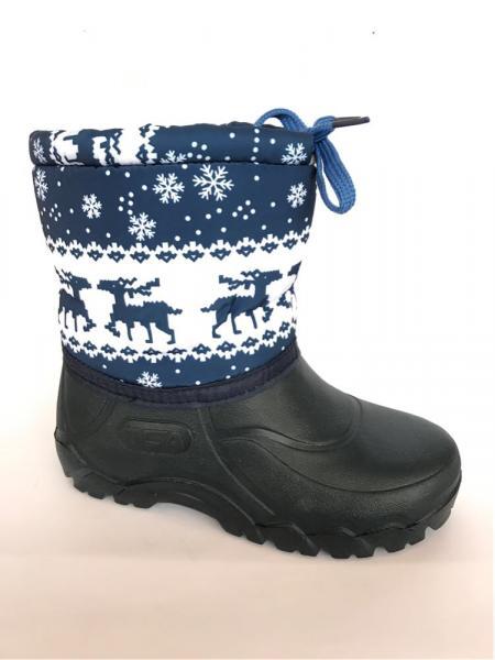 Зимние дутики, детские на пене П-1 синие(снежинка)