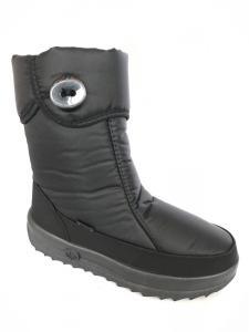Фото Обувь зимняя женская, сапоги, ботинки Женские черные зимние сапоги дутики на меху 702-1