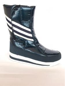 Фото Обувь зимняя женская, сапоги, ботинки Сапоги дутики женские аляска K&G 33 синий спортивные